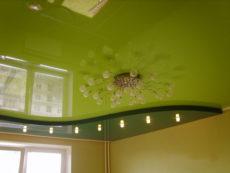 купить глянцевые натяжные потолки